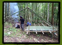 Ten and Uncle Ben Trekking Bamboo Shelter